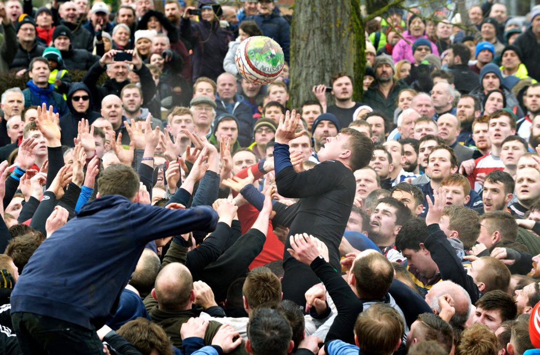 Ashbourne Royal Shrovetide Football match 2017