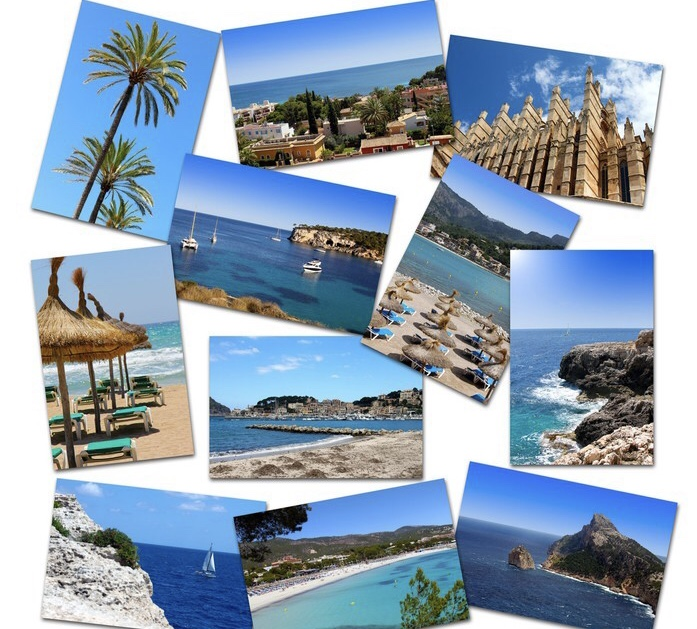 photo collage from mallorca vacations